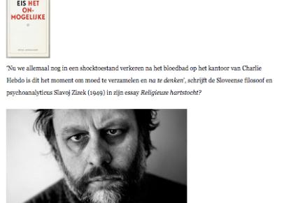 Eis het onmogelijke, van Slavoj Zizek, door  Jan Dietvorst , 11 september 2015, Beurs van bijzondere Uitgevers