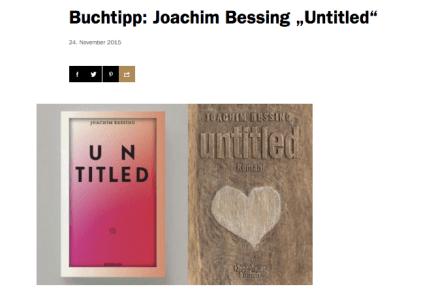 "Buchtipp: Joachim Bessing ""Untitled"""