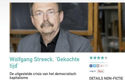 Wolfgang Streeck, 'Gekochte tijd' De uitgestelde crisis van het democratisch kapitalisme, Wout Waegemans, Cutting Edge, 26 januari 2016