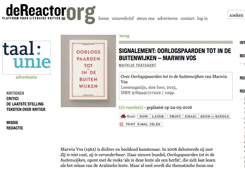Marwain Vos - Mathijs Tratsaert - De Reactor