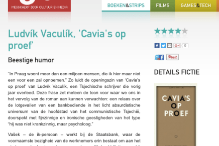 Ludvík Vaculík, 'Cavia's op proef' Beestige humor,  Wout Waegemans @ Cutting Edge – 20 oktober 2016