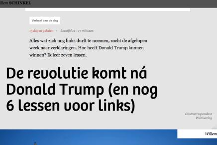 De revolutie komt ná Donald Trump (en nog 6 lessen voor links), Willem Schinkel 'citeert' Wolfgang Streeck
