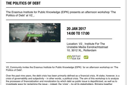 The Politics of Debt, Wolfgang Streeck & Ewald Engelen oa. @V2