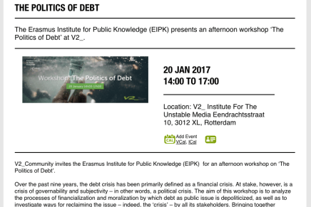 The Politics of Debt, Wolfgang Streeck & Ewald Engelen oa. @V2