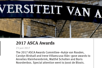 2017 ASCA Awards, special mention for Joost de Bloois, In de naam van het Maagdenhuis