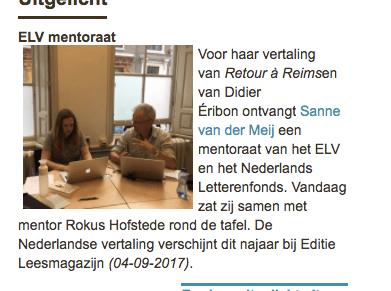 Sanne van der Meij en Rokus Hofstede rond de tafel