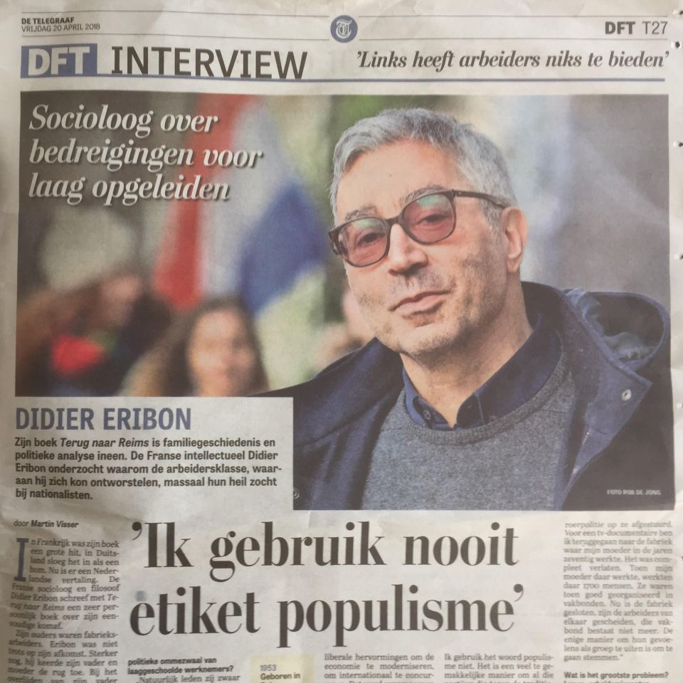 Didier Eribon De Telegraaf