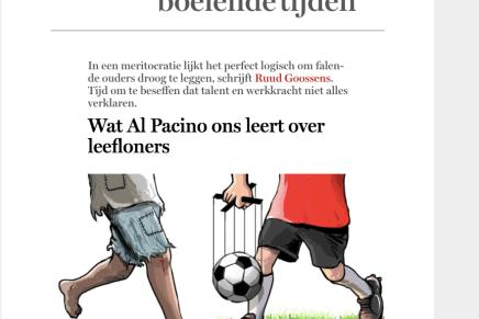 Wat Al Pacino ons leert over leefloners, Ruud Goossens, De Standaard, 11 mei 218