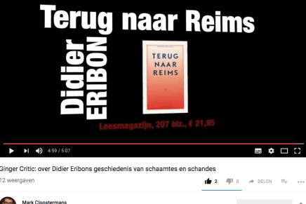 Ginger Critic, Mark Cloostermans: over Didier Eribons geschiedenis van schaamtes en schandes