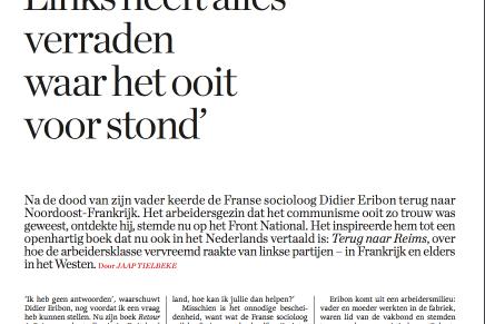 Links heeft alles verraden waar het ooit voor stond, Jaap Tielbeke, Knack 26 Juli 2018