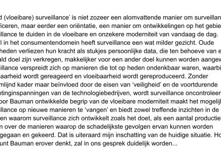 Liquid – vloeibare surveillance