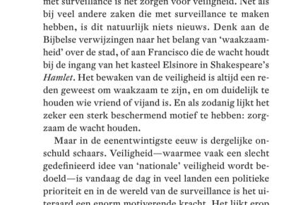 (On)veiligheid en surveillance