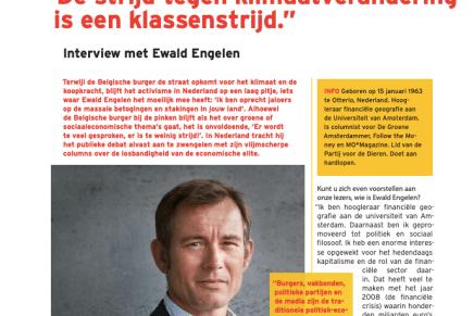 """""""De strijd tegen klimaatverandering is een klassenstrijd."""" Interview met Ewald Engelen, Radeis, 3, 2019"""