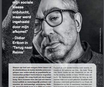 """""""Ik was mijn sociale klasse ontvlucht, maar werd ingehaald door mijn afkomst"""" – Didier Eribon in 'Terug naar Reims', ABVV, NR. 98, 2019"""