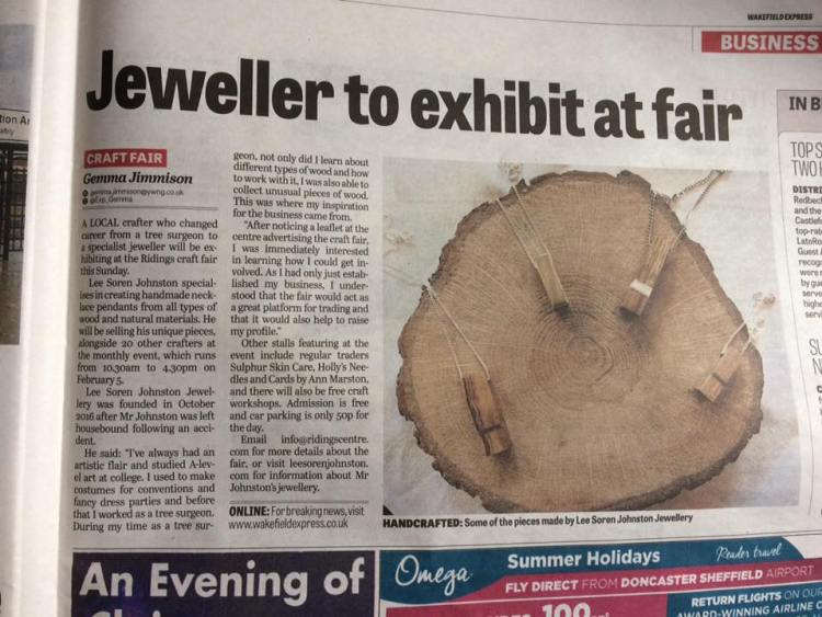 handmade jewellery in wakefield express