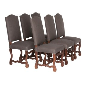 Belgium circa 1900 set of 6 high back upholstered dining chairs (AX112)