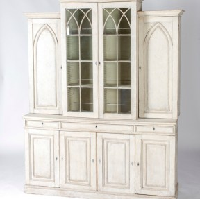 England circa 1880 painted bookcase