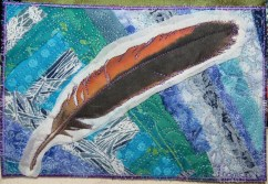 redtail feather 5x7""