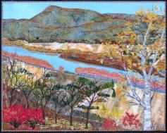 "Mt Sugarloaf, looking north 14x18"""