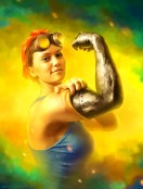 A-Michael-Oswald-digital-painting-of-a-sexy-steampunk-muscle-girl