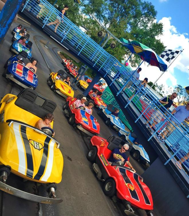 Florida Disneyworld Autorennen