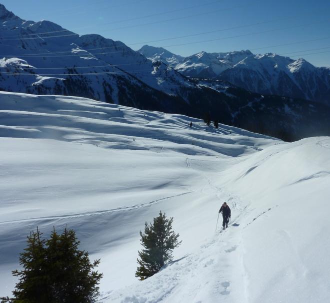 Skiurlaub - Skitour schönes Wetter