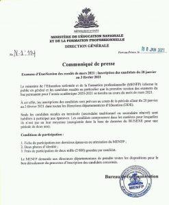 Haïti-Éducation : Fixation de la date du déroulement des examens récalés du baccalauréat