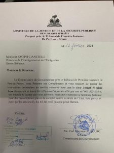 Haïti-Politique : Joseph Mécène Jean Louis interdit de quitter le pays