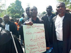 Haïti-Protestation: Des avocats marchent contre le kidnapping à Petit-Goâve