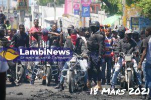 Haïti-Insécurité: Nouvelle journée de manifestation des policiers du groupe Fantom 509 à Port-au-Prince