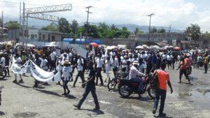 Haïti-Protestation  : Delmas 32 réclame le cadavre du policier Vivender Georges