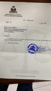 Port-au-Prince : Le Ministre de la justice sanctionne un substitut du commissaire du gouvernement
