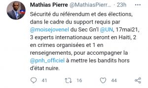 Haïti-Sécurité : Des experts internationaux attendus en Haïti pour faciliter la réalisation du référendum et les élections