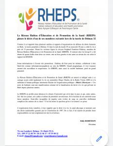 Tuerie à Delmas 32 : Le Réseau Haïtien d'Éducation et de Promotion de la Santé pleure l'exécution d'un de ses membres