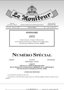Assassinat du Président Haïtien : Le Gouvernement crée un comité d'organisation des funérailles nationales