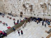 the wailing wall from above