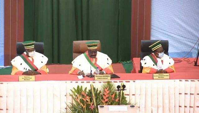 Investiture de Roch Kaboré: Le discours du président du Conseil constitutionnel