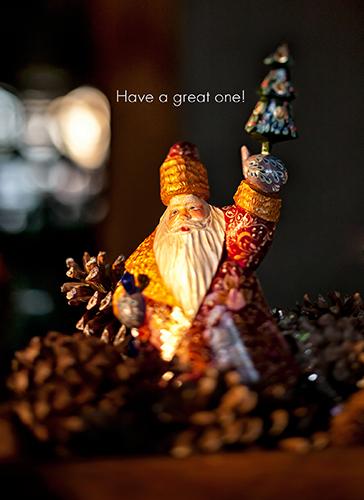 Carved Santa