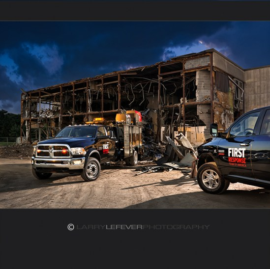 Dodge Ram utility truck