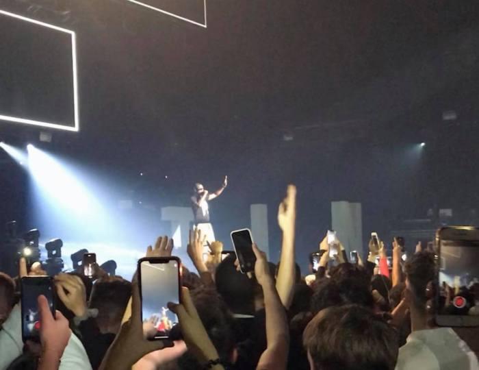 Ninho en concert à Saint-Etienne, le 16 novembre 2019.