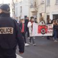 À Vichy, la manifestation contre l'article 24 a rassemblé plus de 300 personnes. Photo : Louis Colmagne / Hans Lucas