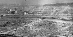 Hiroshima, like etter atombomben 6. august 1945. (Foto: Wikipedia/US Navy)