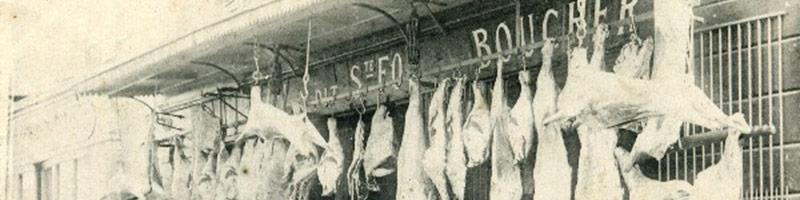 Une boucherie au début du 19eme siècle