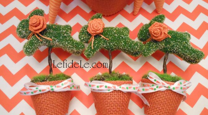Easy DIY Leaping Bunny Topiary Craft Tutorials with Free Banner, Wreath, Place-card, Invitation, & Thank You Note Printables (for Easter, Showers, Luncheons, & Brunches)