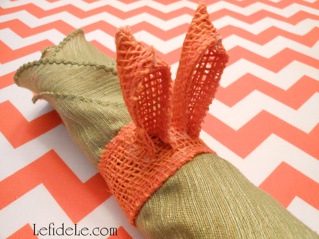 Fast Amp Easy Diy Burlap Ribbon Bunny Ears Napkin Rings Craft Tutorial Perfect For Easter