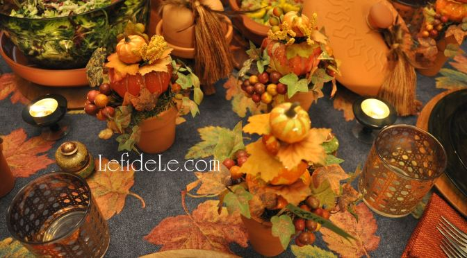 Fabulous Fall Leaf & Pumpkin Décor Crafts (Place-card Holders & Easy Remade Basket)