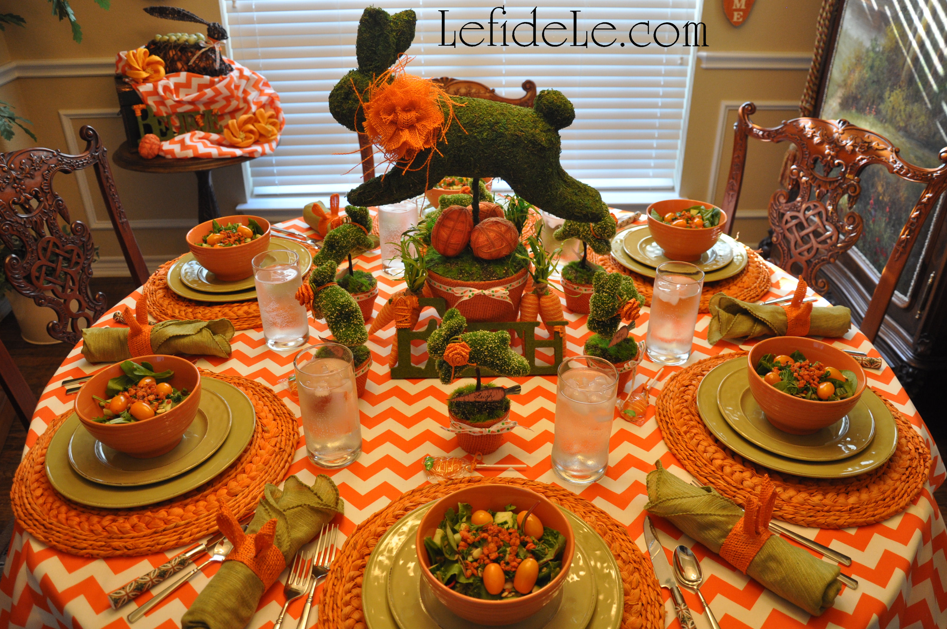 Leaping Bunny Topiary Spring Indoor Garden Party Décor Ideas for ...