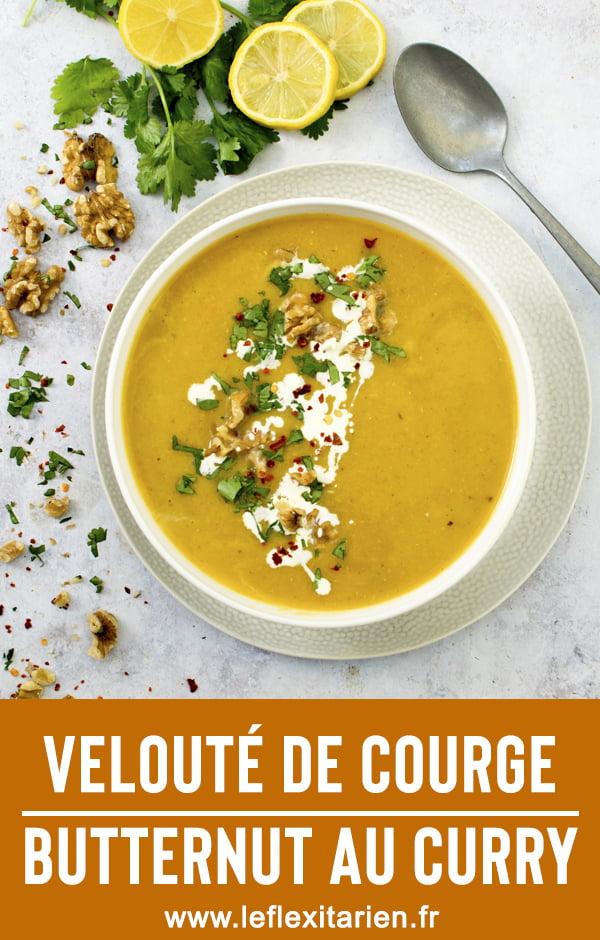Velouté de courge butternut au curry [vegan] Le Flexitarien