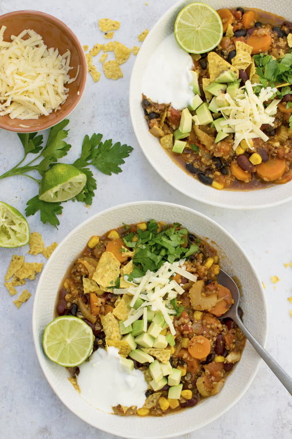Ragoût de quinoa mexicain [vegan] © Annabelle Randles | The Flexitarian | Le Flexitarien