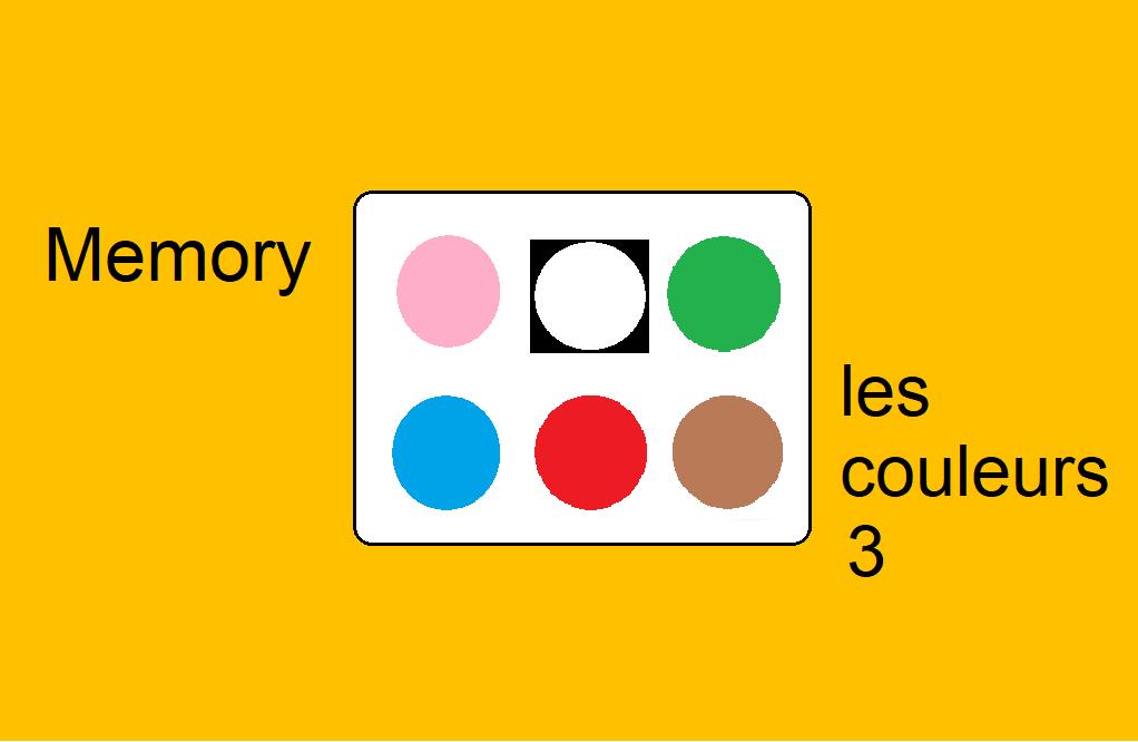 Memory – les couleurs 3